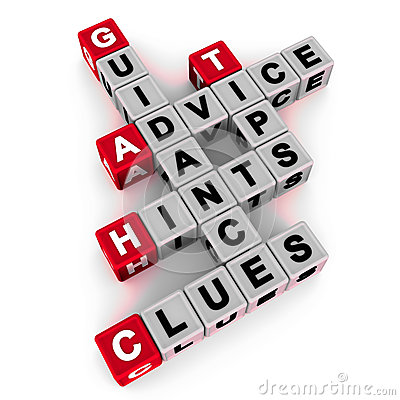 Hints tips and clues