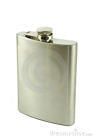 Free Hip Flask Royalty Free Stock Photo - 23911515