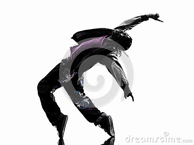 1cf6674a7 Hip Hop Acrobatic Break Dancer Breakdancing Young Man Silhouette Royalty-Free  Stock Photography