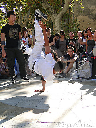 Hip-Hop Breakdancers Compete In Pairs, Royalty Free Stock Images - Image: 21716959