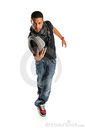 Hip Hop Dancer With Hat