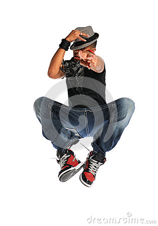 Hip Hop Dancer Jumping