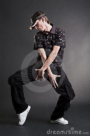 Hip hop dancer posing