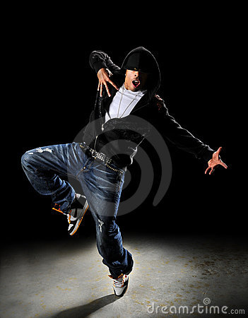 Free Hip Hop Dancer With Hood Royalty Free Stock Photos - 10344358