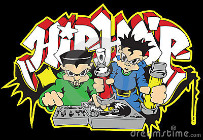 Hip hop deejay graffiti writer
