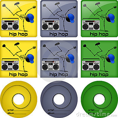 Hip hop disc covers