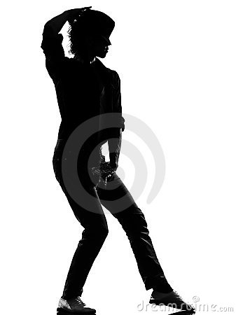 Hip hop funk dancer dancing man