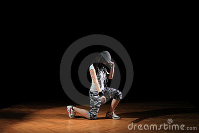 Hip hop girl in dance