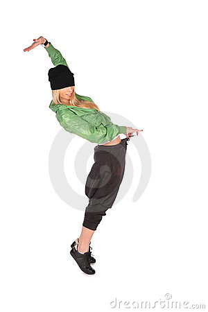 Hip-hop girl thin