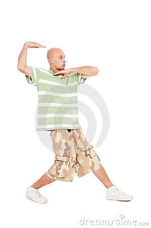 Hip-hop guy dancing