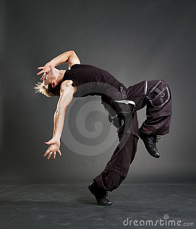 Hip-hop guy showing cool motion