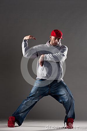 Hip-hop man dancing