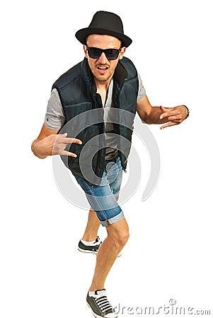 Hip hop man gesturing
