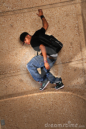 Hip Hop Man Standing on Wall