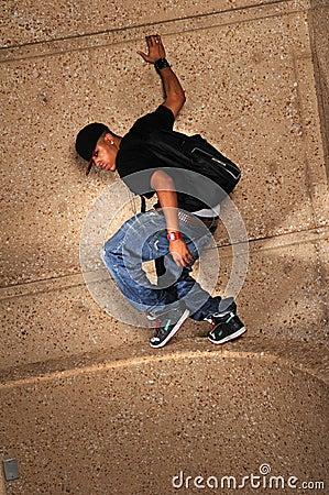 Hip Hop Man Standing on Wall