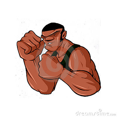 Hip Hop Tough Guy Street Fighter Boxer