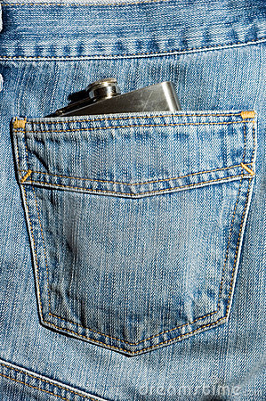 Free Hipflask Denim Stock Images - 2173024