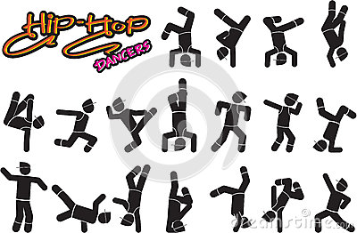 Hiphop Dancers Vector Illustration