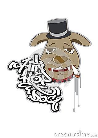 HIPHOP DOG Vector Illustration