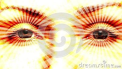 Hipnotizando o laço sem emenda dos olhos vídeos de arquivo
