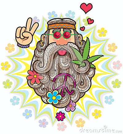 Hippie Vector Illustration