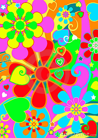 Hippie Chic Flower Power Stock Photo Image 13640630