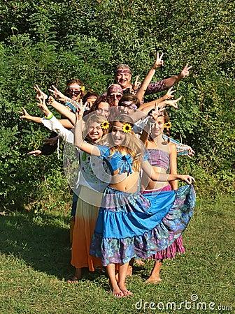 Free Hippie Family Stock Image - 20751021