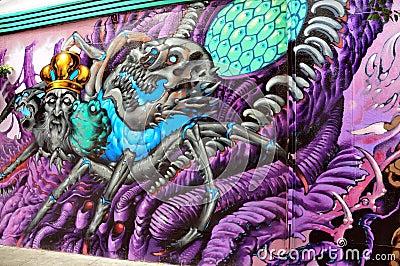 Hippie mural in Haight Hasbury in San Francisco Editorial Photo
