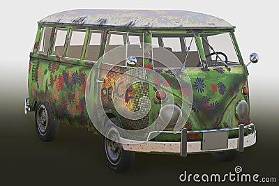 Hippie van 3d