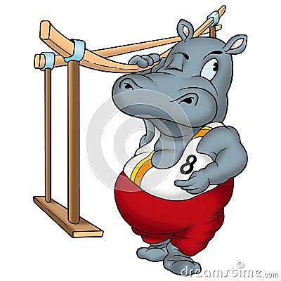 Free Hippo Gymnast Royalty Free Stock Image - 1971296