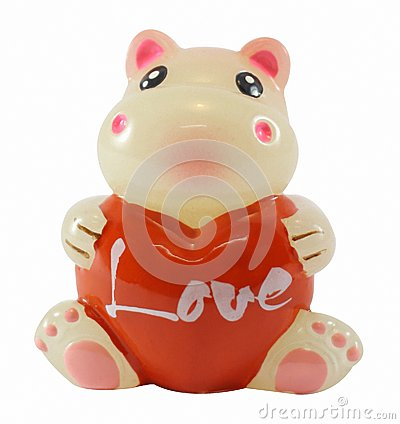 Hippo with heart