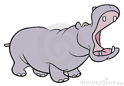 Hippopotamus cartoon illustration
