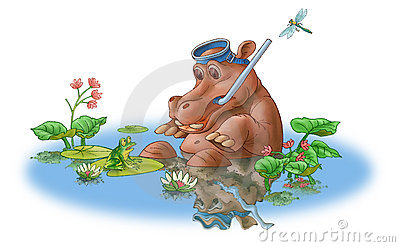 The hippopotamus and frog.