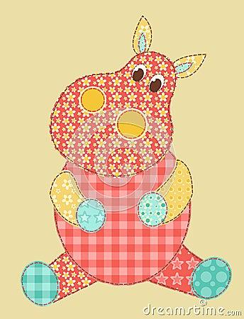 Hippopotamus-Patchwork
