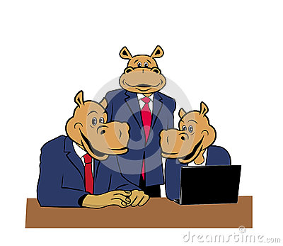 Hippos in office 8