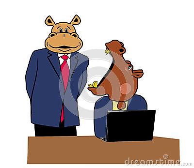 Hippos in office 7