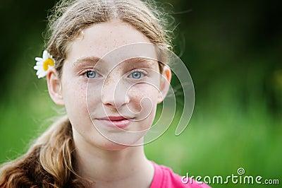 Hippy teenager