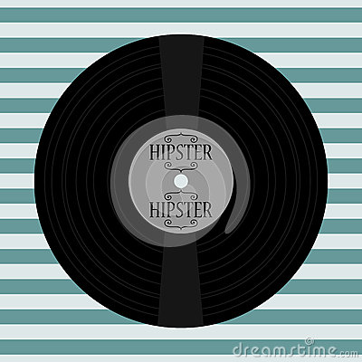 Hipster card vinyl record