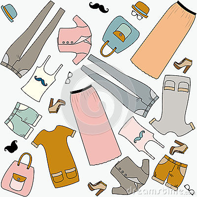 Hipster fashion. Seamless pattern