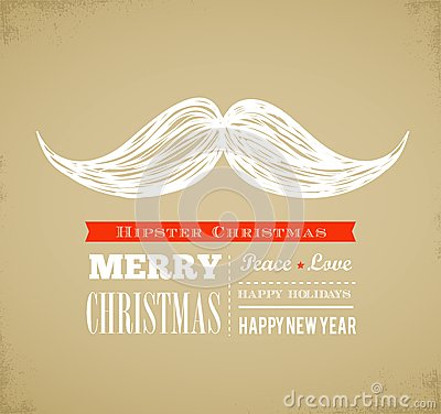 Hipster New Year and merry Christmas