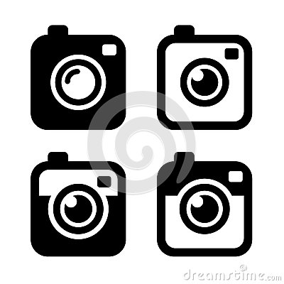 Free Hipster Photo Or Camera Icons Set. Vector Stock Images - 46956814
