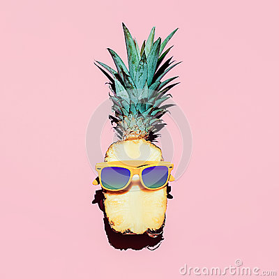 Free Hipster Pineapple Fashion Accessories And Fruits. Stock Images - 51865314