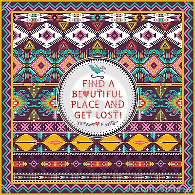 Hipster seamless aztec pattern