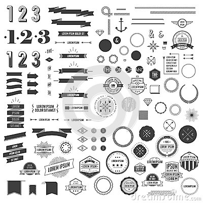 Free Hipster Style Infographics Elements Set For Retro Design Stock Photography - 52551932