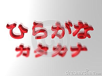 Hiragana et katakanas