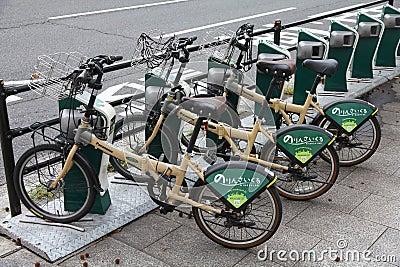 Hiroshima bicycle sharing Editorial Photography