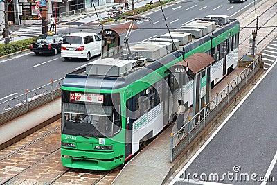Hiroshima tram Editorial Stock Image