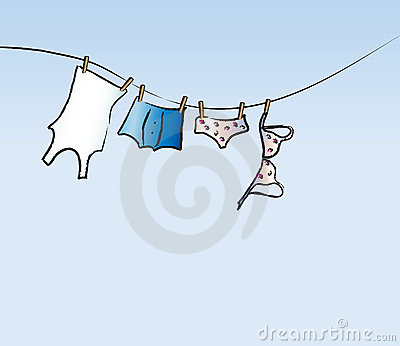 His and hers washing line