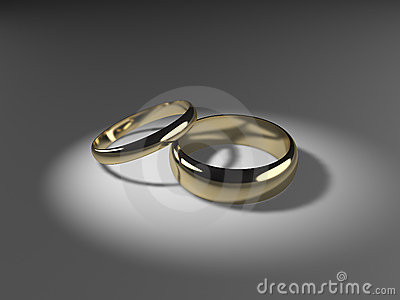 His And Hers Wedding Bands Stock Photos Image 6352923