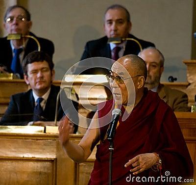 His Holiness Dalai Lama Editorial Photography